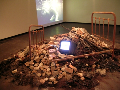 "A photo of Joan Scaglione's installation, ""Regeneration."""