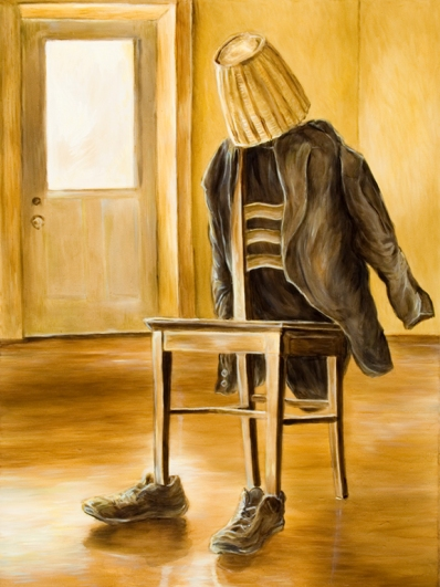 """Jude Griebel's """"Vacant Room, Seated Figure."""""""