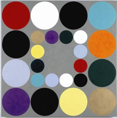 One of Eli Bornowsky's untitled abstract dot works.