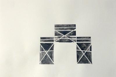 One of Matthew Robertson's scaffolding inspired drawings.