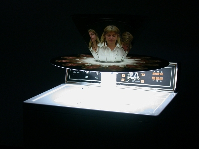 Get animated with Diane Landry's washing machine cinema.