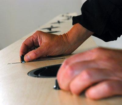 """A participant using Ellen Moffat's """"vBox."""""""